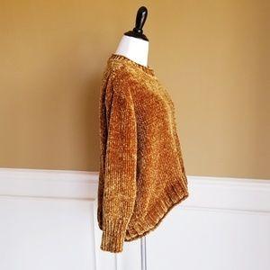 MASSINI Gold High Low Sweater